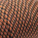 Paracord Type III 550, black orange camo #047