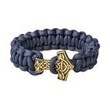 Браслет из паракорда, с Молотом Тора, navy blue