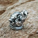 """Бусина """"Питбуль"""", ручное литье с серебряным покрытием"""