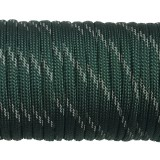 Paracord reflective, dark emerald green #r3022