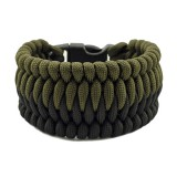 Браслет из паракорда Trilobite Cetus, black/army green