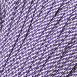 Paracord Type III 550, White Purple TWIST #424 (007+026)