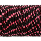 Minicord. Paracord 100 Type I (1.9 mm), black with pink X #112-type1