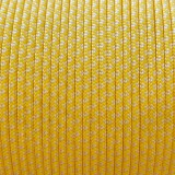 Minicord. Paracord 100 Type I (1.9 mm), white/yellow pastel snake #447 (007|419)-Type1