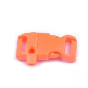 """5/8"""", оранжевый, со свистком, закругленный, фастекс пластиковый"""