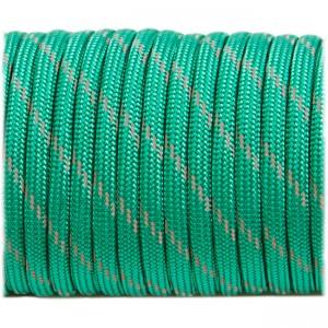 Paracord reflective, emerald green #r3086