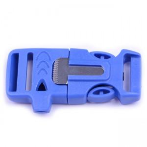 """5/8"""", синий, со свистком и огнивом, ровный, фастекс пластиковый"""