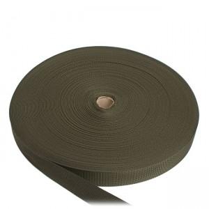 Лента ременная усиленная, 25 мм, олива