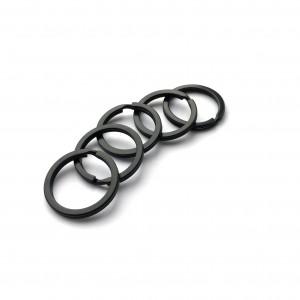 Кольцо для ключей черное, 28 мм