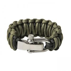 """Браслет """"Двойная кобра"""", Black and Army green (M)"""