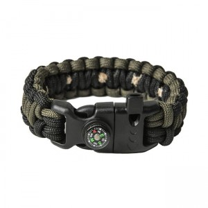 """Браслет """"Кобра"""" Survival, Black and Army green (S)"""
