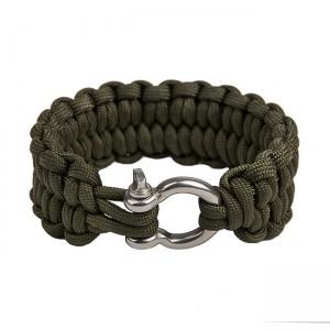 """Быстрорасплетающийся браслет """"Петли"""", Army green (S)"""