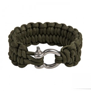 """Быстрорасплетающийся браслет """"Петли"""", Army green (M)"""