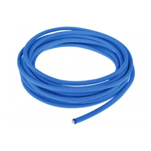 Провод в тканевой оплетке 4 мм, sky blue #024
