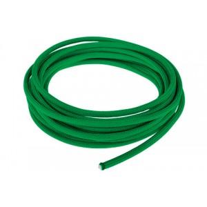 Провод в тканевой оплетке 4 мм, green #025