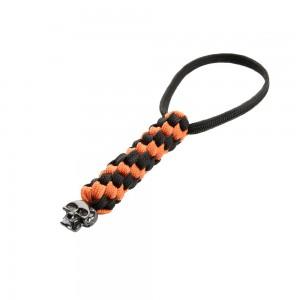 Темляк Helix Black/Orange, с черепом
