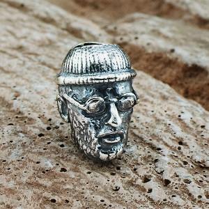 """Бусина """"Леон"""", ручное литье с серебряным покрытием"""