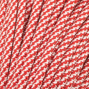 Paracord Type III 550, Red/White TWIST #426 (021+007)