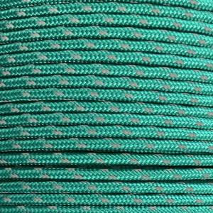 Minicord reflective (2.2 mm), emerald green #r2086-2