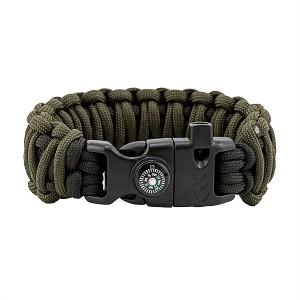 """Браслет """"Двойная кобра"""" Survival, black and army green"""