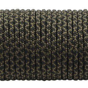 Minicord. Paracord 100 Type I (1.9 mm), black snake #308-type1