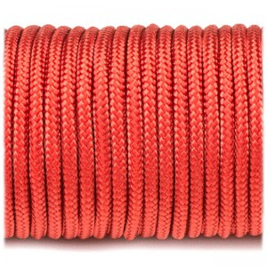 Minicord. Paracord 100 Type I (1.9 mm), red #021-type1